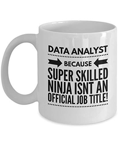 N\A Analista de Datos Super Skilled Ninja Título del Trabajo Taza de café Divertida Taza de té Amantes de los Datos