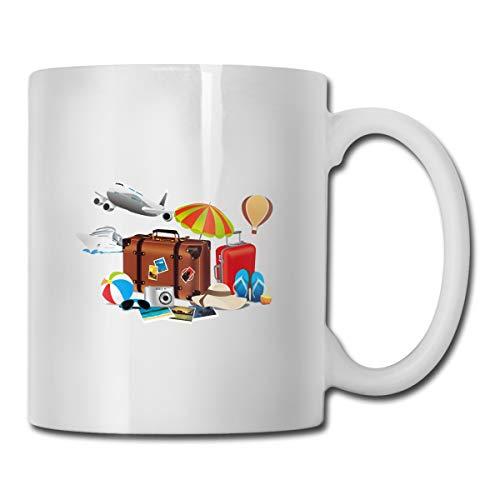 Coron Cebu Baler Legazpi Bacolod Creative Summer Travel Ad 11 Gusi taza de café de cerámica para oficina restaurante