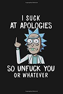 I suck at apologies so unfack you or whatever: 100 lined pages notebook, 6x9''