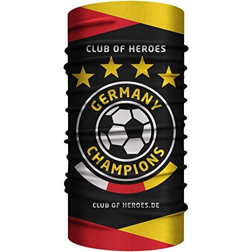 Club of Heroes Multifunktionstuch Deutschland Fussball Bandana/Germany Schlauchschal Schal Tuch/Fan Team deutsch Nationalmannschaft EM Meister Fahne (Bandana)