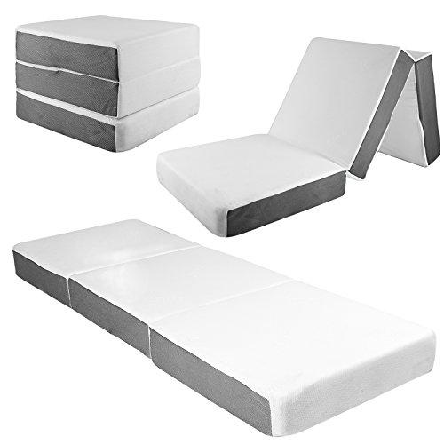 Samay - Colchón Plegable con Funda Lavable, 15,2 cm, Incluye Forro Impermeable para colchón