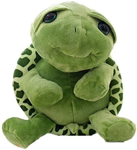 DINGX Juguetes suaves súper lindos verdes grandes ojos de tortuga, juguete suave de peluche, juguetes de tortuga, juguetes de bebé muñeca para niños, regalo de peluche (color: -) chuangze