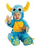 Horror-Shop Blaues Keks Monster Plüsch Kostüm für Babys an Halloween S