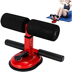 Kracie Sit up bar – self-Suction sit up equiment for Floor – Portable Adjustable sit up Bench Abdominal Muscle Toner for Home Workouts