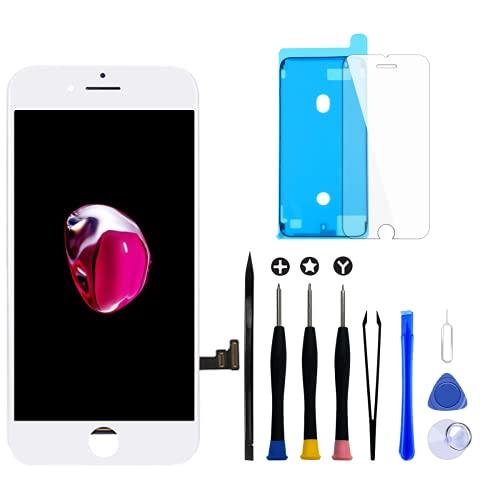 Goldwangwang iPhone 7 4.7インチ フロントパネルタッチパネル 液晶パネルセット iPhone 7の画面取り付け(にのみ適用されます iPhone 7 ホワイト)