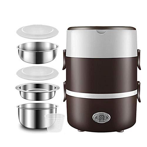 Kiu Lunchbox, elektrisch, roestvrij staal, warmhoudhouder, opwarmer, mini-lunchbox, rijstkoker, kantoor, draagbaar
