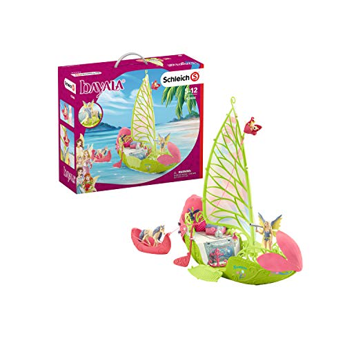 Schleich 42444 bayala Spielset - Seras magisches Blütenboot, Spielzeug ab 5 Jahren