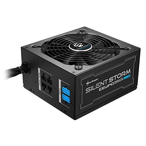 Sharkoon SilentStorm Icewind Black 550 Watt PC-Netzteil ATX (80+ Bronze, DC-zu-DC-Technologie, Kabelmanagement, Flachbandkabel) schwarz