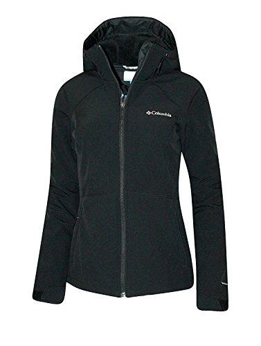 Columbia Women's Alpine Fir Windproof Fleece Lined Softshell Hooded Jacket (M, Black)