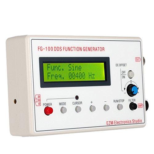 KKmoon 1HZ-500KHZ DDS Funcional Señal Generador Seno + Cuadrado + Triángulo + Sierra Onda