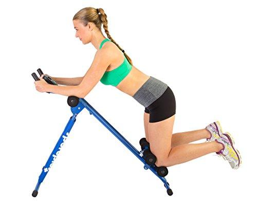 SportPlus - Ab Plank - Planche pour Abdominaux et Gainage - Pour tous les Niveaux - Plusieurs Options et Coloris dispo - Ecran de contrôle - Pliable