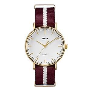 Timex Reloj Analogico para Mujer de Cuarzo con Correa en Tela TW2P98100