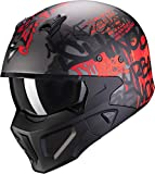 Scorpion CASCO COVERT-X WALL DARK SILVER MATTE-RED M