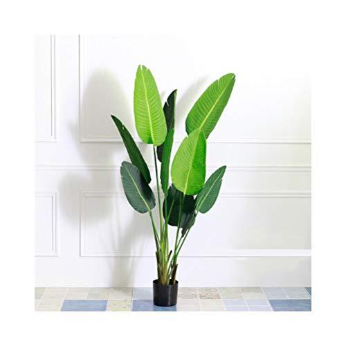 QUD - Planta artificial de palmera, gran árbol tropical, hojas de palmera para la casa, Kitchen Party flores, arreglos de decoración de boda 20/4/3, medium