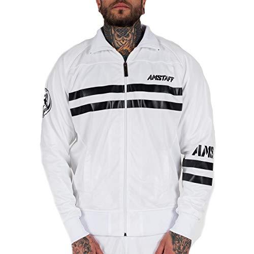 Amstaff Männer Okus Trackjacket Sport Trainingsjacke weiß XL