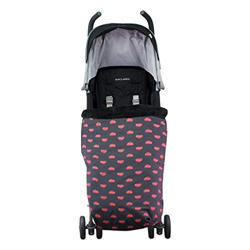 JANABEBE Universal Baby Fußsack Kinderwagen (FLUOR HEART, FLEECE)