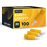 Prove Safety Lancets Pressure Activated 30-Gauge - 100 Count | 100ct 30G Disposable Single-Use Lancets for Blood Testing