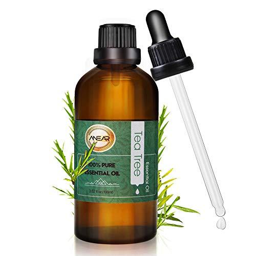 ANEAR Huile essentielle Tea Tree 100ml, huile essentielle arbre à thé pour Diffuseur, Aromathérapie, parfum d'ambiance et bricolage