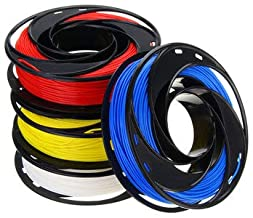 SumoTik CCTREE Blue+White+Yellow+Red Color 200g/Roll 1.75mm Filament Kit for 3D Printer, 3D Printer & Supplies 3D Printer Filament, 1 x Red PLA filament, 1 x Blue PLA filament, 1 x White