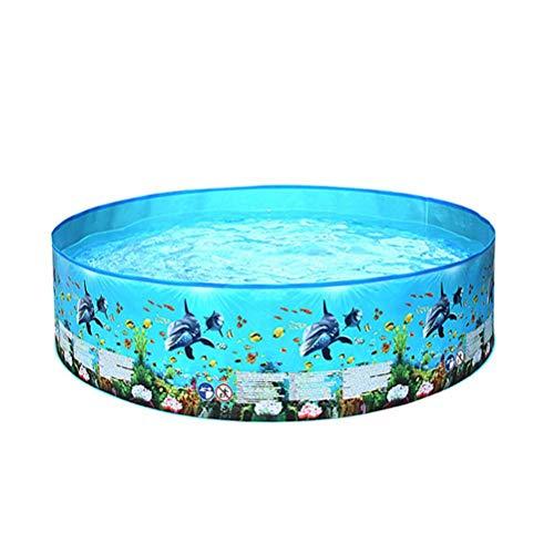 YAQIAN Piscina de tres anillos, inflable de PVC soplado redondo acolchado piscina gran niños verano sol jardín juguetes para niños