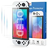 HEYSTOP Pellicola Protettiva Temperato per Nintendo Switch OLED Console, AntiGraffio, Senza Bolle,Pellicola in Vetro 0,25 mm, Proteggi Schermo in Vetro Temperato per Nintendo Switch OLED Modello