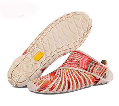 YLLYI Zapatos Envueltos En Zapatos De Cinco Dedos, Zapatos Envueltos Vibram Furoshiki, Zapatos para Correr Ultraligeros para Cinco Dedos, Zapatos Deportivos Portátiles Plegables,Rosado,M