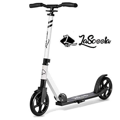 Lascoota Scooters for Kids 8 Years and up - Quick-Release Folding System - Dual Suspension System + Scooter Shoulder Strap 7.9' Big Wheels Great Scooters for Adults and Teens