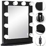 Bisujerro Espejo de Maquillaje con Luz 65x50cm Espejo de Maquillaje con 12 Luces Led Espejo para Maquillaje con Estilo de Hollywood Led Vanity Makeup Mirror (65x50cm 12 Luces Negro)