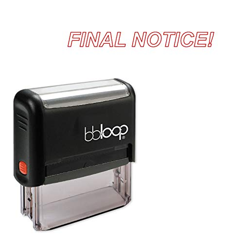 Final Notice! w/Italic Outline Style Font and Design Self-Inking Rubber Stamp
