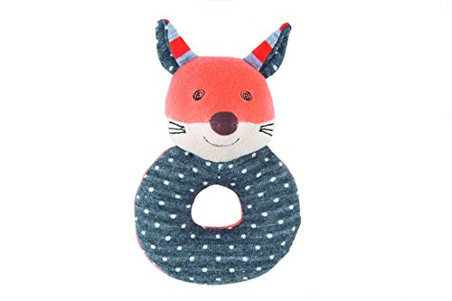 Product Image of the Apple Park Organic Farm Buddies - Frenchy Fox Teething Rattle, Baby Toy for...