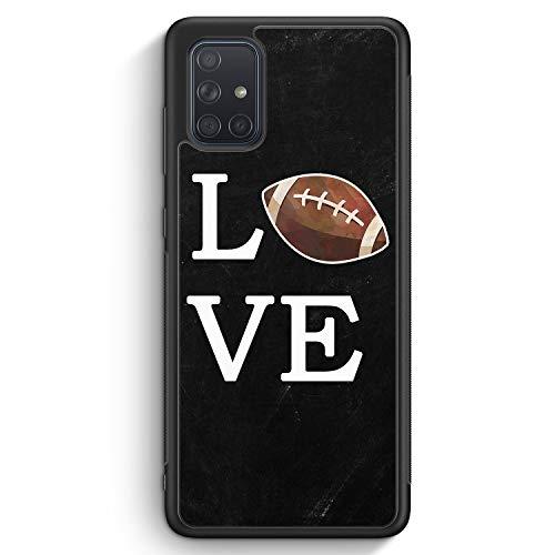 Love American Football - Silikon Hülle für Samsung Galaxy A71 - Motiv Design Sport - Cover Handyhülle Schutzhülle Case Schale