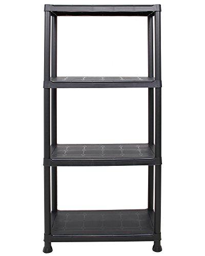 Ondis24 Steckregal 60 x 30 x 135 (H) cm, 4 Böden, Kunststoffregal, Schwerlastregal, bis zu 80 kg, Regal, Lagerregal (1 Stück)