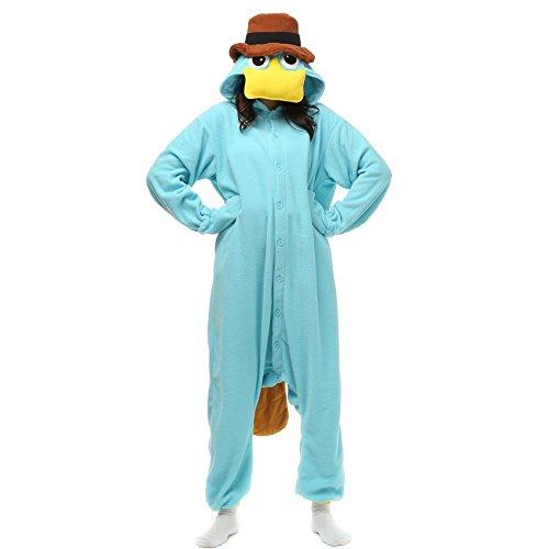VU Roul Animal Kleidung Erwachsene Kostüm Schlafanzüge Cosplay Stil Gr. Medium, Perry the Platypus