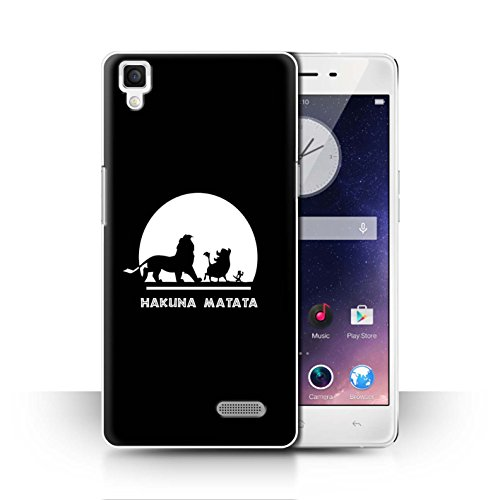 Hülle Für Oppo R7 Karikatur Afrikanische Tiere Hakuna Matata Design Transparent Ultra Dünn Klar Hart Schutz Handyhülle Case