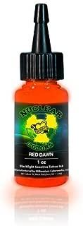 MOM'S Nuclear UV Blacklight Colors Tattoo Ink - Red Dawn UV Blacklight Ink - 1/2oz