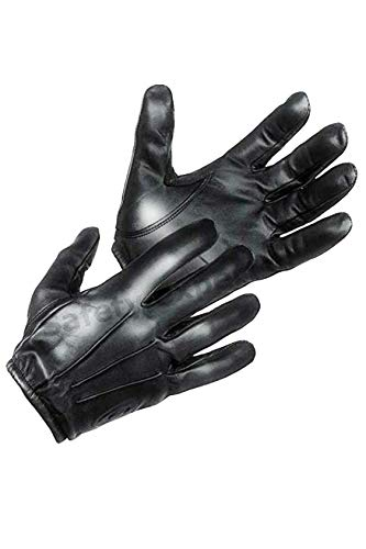 TACTICAL POLICE KEVLARLINER CUT RESISTANT PATROL DUTY SEARCH GLOVES (XS, Black)