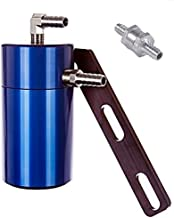Elite Engineering Standard PCV Oil Catch Can & Hardware with Nickel Hose Barb Fittings, Check Valve & Clamps for 2009-2013 Chevy/GMC 6.0L/6.2L - BLUE