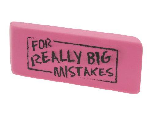 Present Time Silly Gomma da cancellare 'For really Big Mistakes', Per errori molto gravi, colore: Rosa