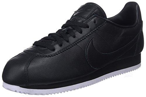 Nike Herren Classic Cortez Prem Gymnastikschuhe,Schwarz (Black/Black/White 002), 45 EU