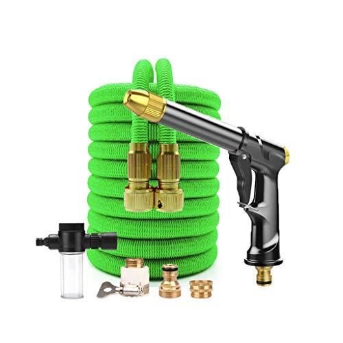 Release Nieuwe Watering Irrigatie Flexibele Uitbreidbare Magic Slang Tuinpijp met Spray Water Pistool Hogedruk Car Wash Reinigingsgereedschap (Color : A, Size : 75FT)
