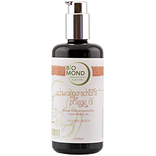 BIO Schwangerschafts-Pflegeöl Schwangerschaftsöl Mama von BIOMOND 200 ml TESTSIEGER/ohne Zusatzstoffe/Naturkosmetik/von Hebammen empfohlen
