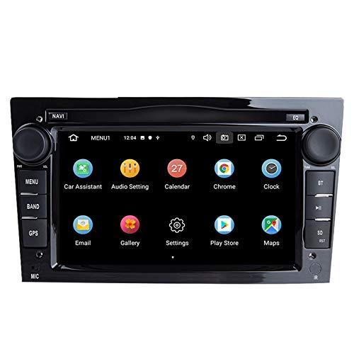 QIQIDIAN 2 DIN Android Car DVD Player Multimedia Navegación GPS Radio Compatible con Opel Vectra C Zafira B Corsa D C Astra H G J Meriva Vivaro,8core 64 ROM carplay