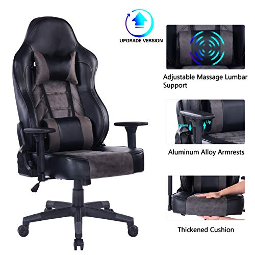 Blue Whale Gaming Chair (8291Grey-1) blue chair gaming