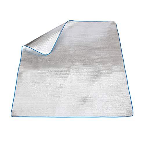Tapis de pique-nique Tapis imperméable aux Quatre Coins, étanche à l'humidité épaississant Portable 200 * 200cm Spring Tour Wild Donkey Lawn Camping (Silver)