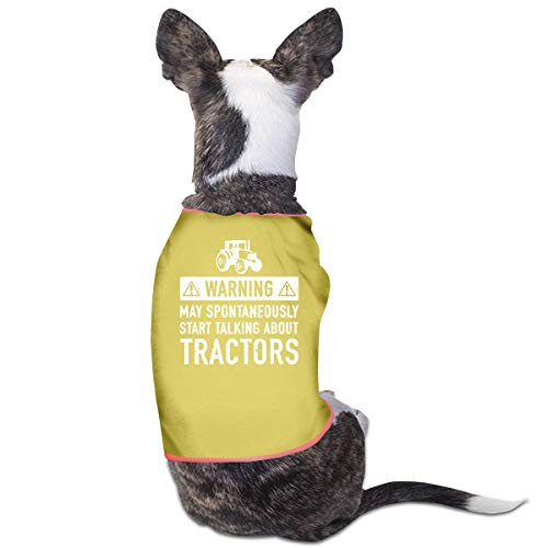 COLLJL8 Funny Tractor.jpg Pet Clothing Costumes Puppy Dog Clothes Vest Tee Shirts