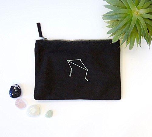 Constellation brodée Noir Sac avec signe du zodiaque Signes