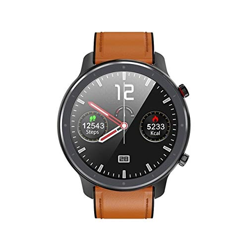 L11 SmartWatch Men's Lady Ecg Ppg Heart Rate Full Round Touch Waterproof Ip68 Smartwatch Wristband China Black brown