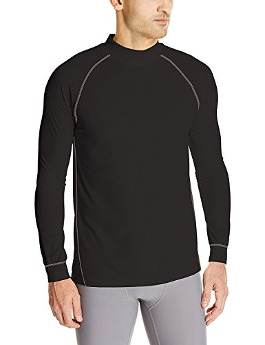 Wolverine Men's Tech Grid Performance Baselayer Long Sleeve Shirt, Black, X-Large