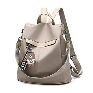 41fgdm6E4ZL. SS300  - Mochila de las mujeres antirrobo impermeable mochila casual monedero de cuero de la PU bolsa de hombro de la escuela…
