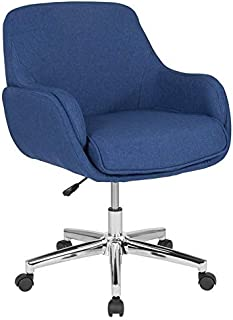JumpingLight Work SPA Medical Salon Rochelle Mid Back Swivel Office Chair in Blue
